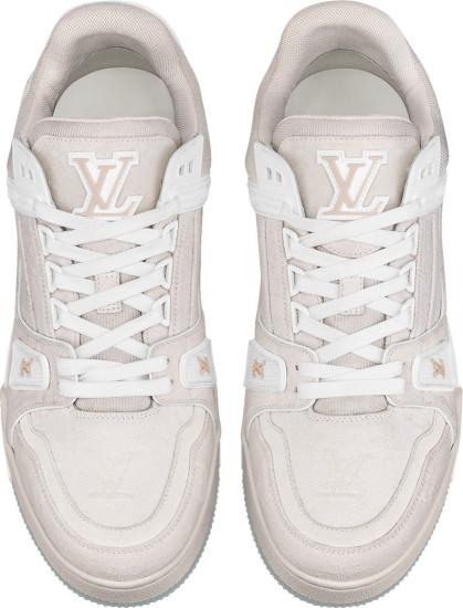 Louis Vuitton Beige Monogram Lv Trainer Sneakers