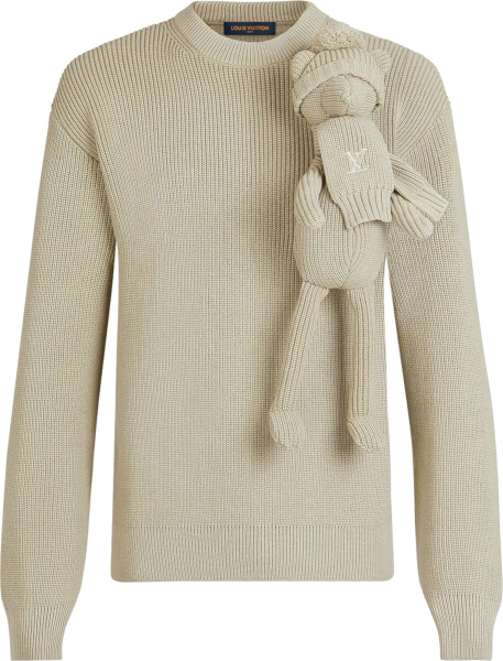 Louis Vuitton Beige Pullet Sweater 1a8p40