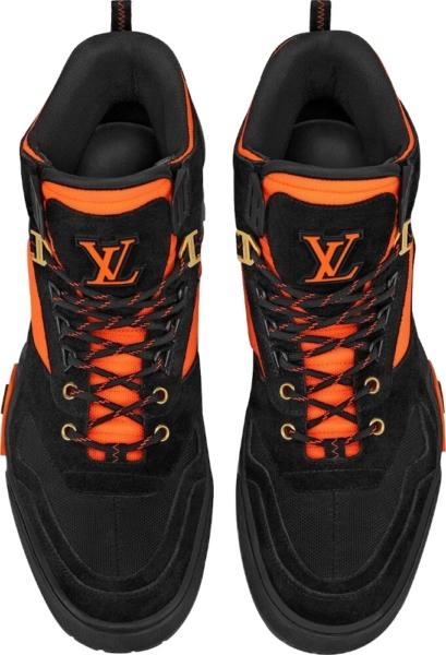 Louis Vuitton Black And Orange Boots