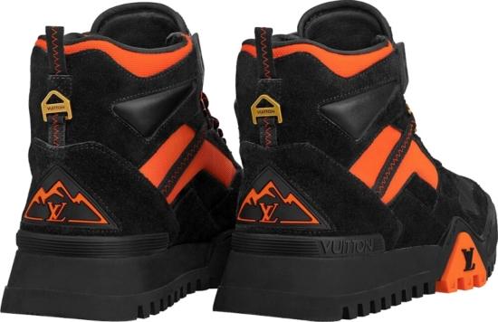 Louis Vuitton Black And Orange Hiking Boots