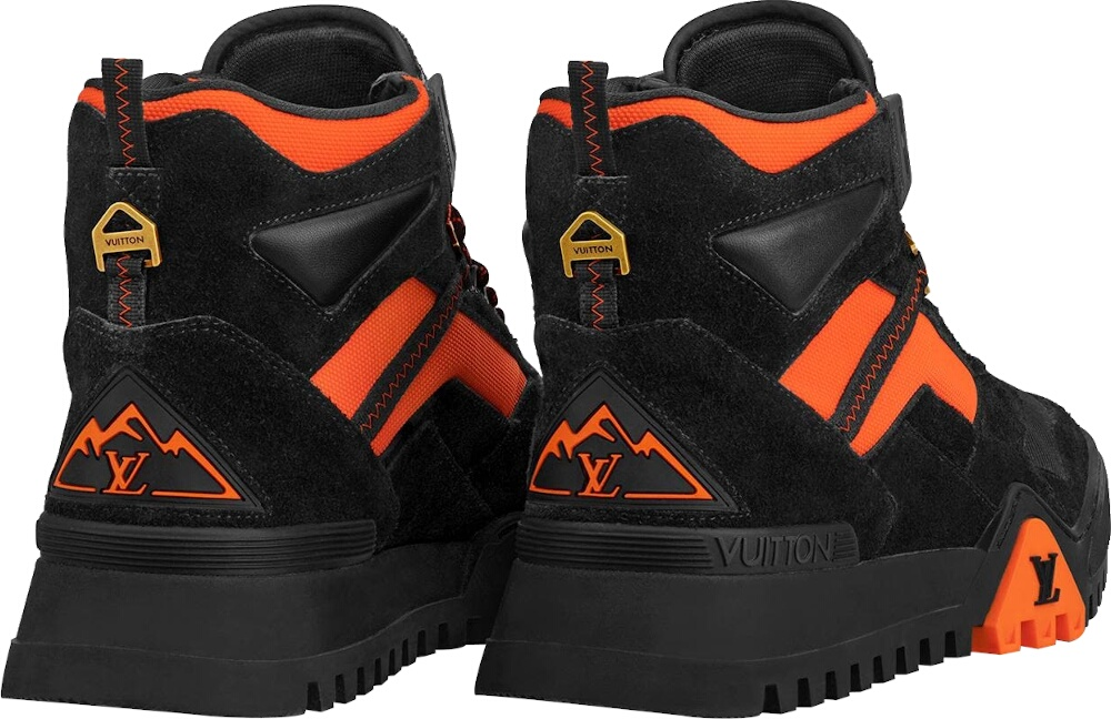 Louis Vuitton Black And Orange Hiking Boots