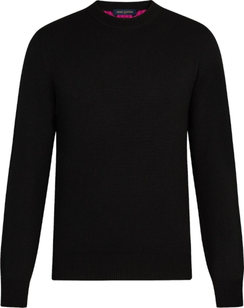 Louis Vuitton Black And Pink Sweater