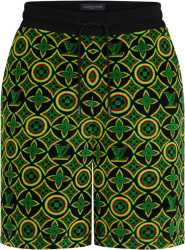 Louis Vuitton Black And Rasta Jamacian Monogram Shorts