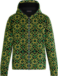 Louis Vuitton Black And Rasta Jamacian Monogram Zip Hoodie