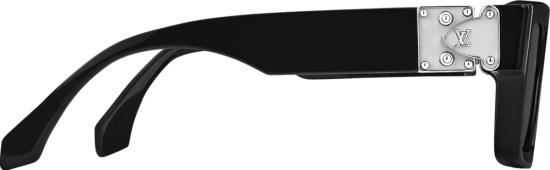 Louis Vuitton Black And Silver Tone Square Sunglasses