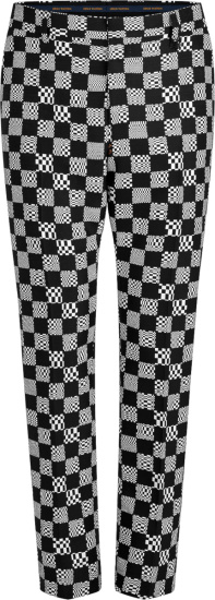 Louis Vuitton Black And White Distorted Monogram Cigaret Pants 1a8pdw
