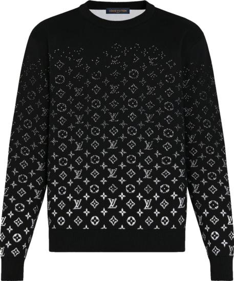 Louis Vuitton Black And White Gradient Monogram Sweater