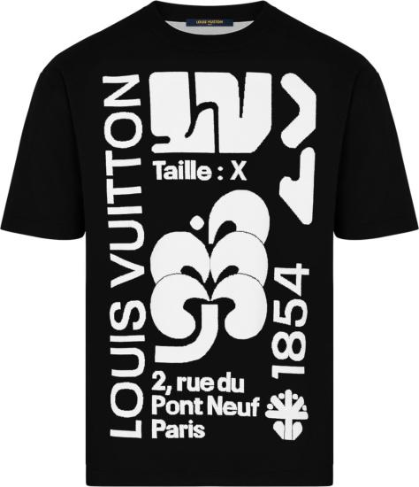Louis Vuitton Black And White Intarsia T Shirt 1a7quo