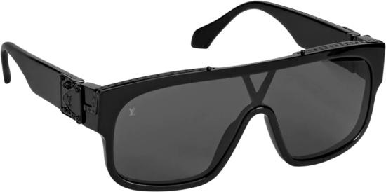 Louis Vuitton Black Aviator Mask Sunglasses