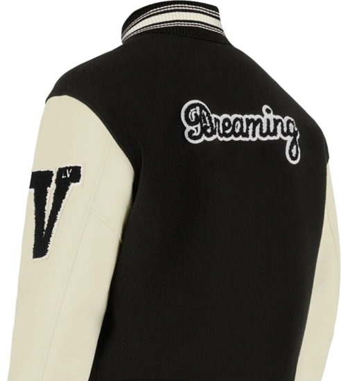 Louis Vuitton Black Baseball Jacket