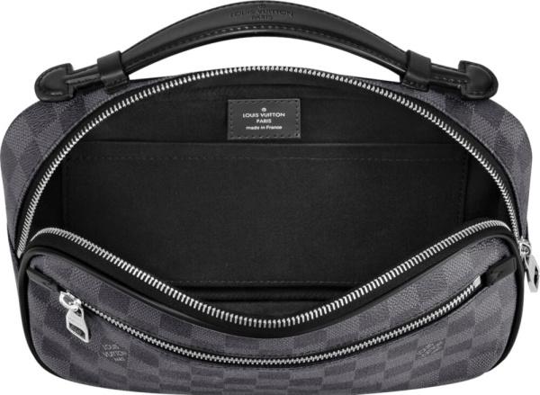 Louis Vuitton Black Check Amler Bag