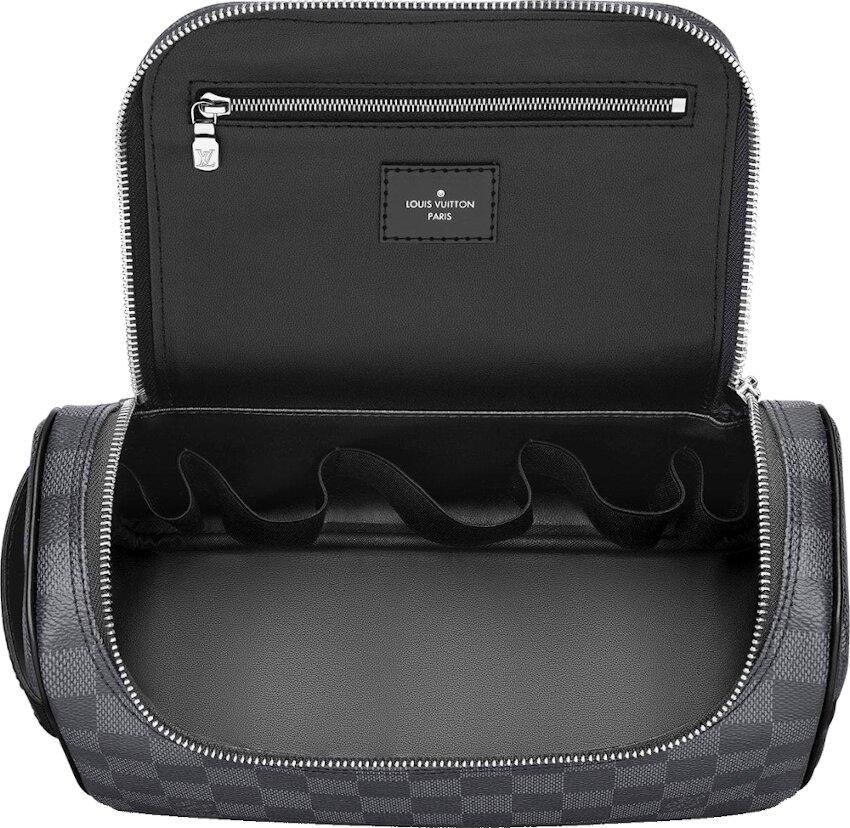 Louis Vuitton Black Check Toiletry Pouch