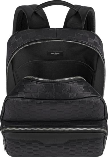 Louis Vuitton Black Checkerboard Woven Backpack