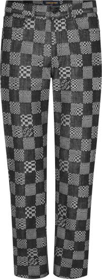 Louis Vuitton Black Distored Damier Jeans 1a8pfp