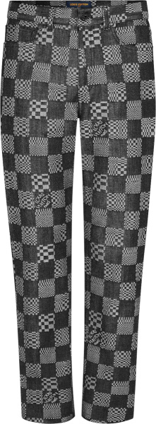 Louis Vuitton Black Distored Damier Jeans 1a8pfp