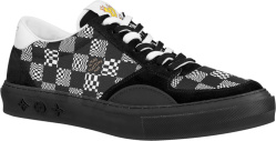 Louis Vuitton Black Distorted Monogram Low Top Lv Ollid Sneakers