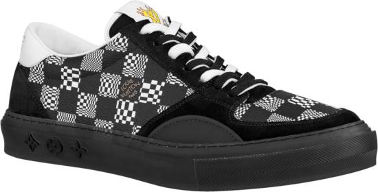 Louis Vuitton Black Distorted Monogram Low Top Lv Ollid Sneakers