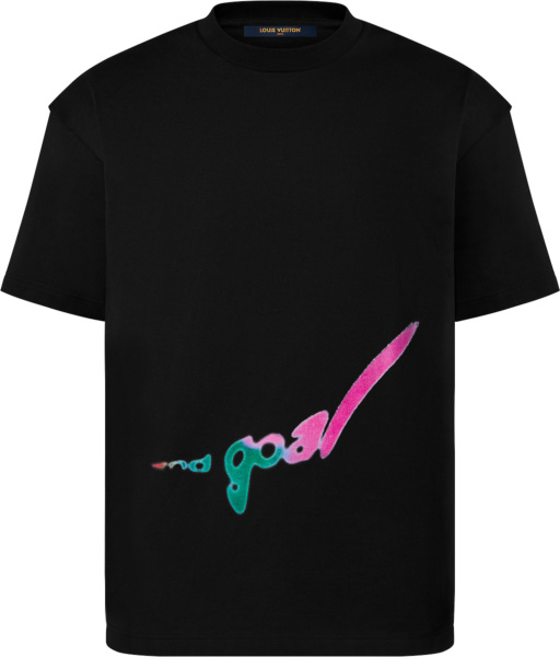 Louis Vuitton Black End Goal T Shirt 1a971l