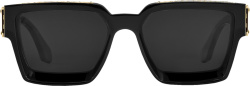 Louis Vuitton Black Gold Square Sunglasses