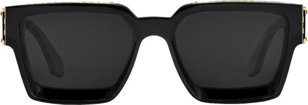 Louis Vuitton Black Gold Square Sunglasses