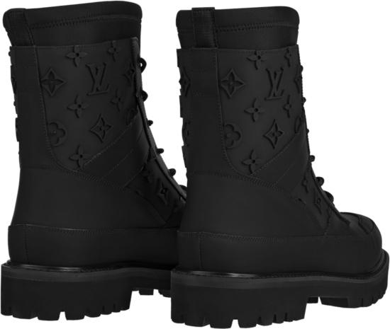 Louis Vuitton Black Landscape Ankle Boots