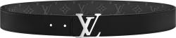 Louis Vuitton Black Leather Lv Initiales Belt