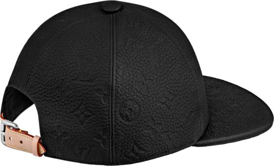 Louis Vuitton Black Leather Monogram Embossed 1 1 Millionaires Hat