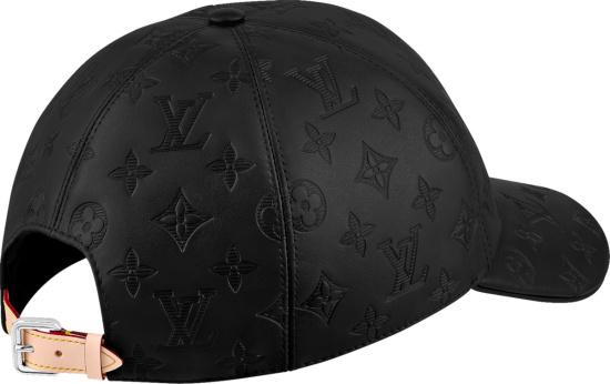 Louis Vuitton Black Leather Monogram Shadow Hat