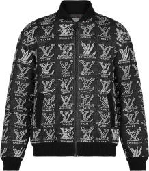 Louis Vuitton Black Lv Cartoons Bomber Jacket