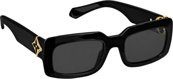 Louis Vuitton Black Lv Flower Sunglasses