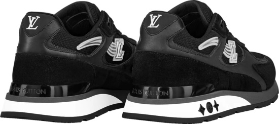Louis Vuitton Black Lv Initials Run Away Sneakers