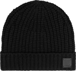 Louis Vuitton Black Lv Knithead Beanie M76045