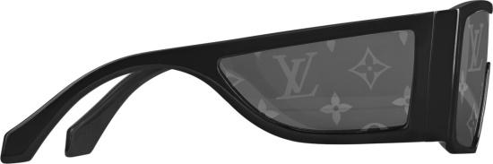 Louis Vuitton Black Lv Sideway Sunglasses