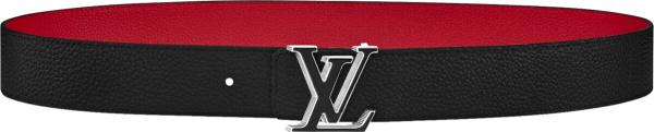 Louis Vuitton Black Lv Tilt Belt