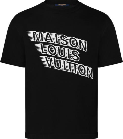 Louis Vuitton Black Maison Logo T Shirt 1a99zm
