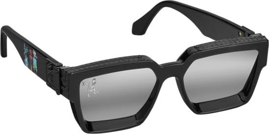 Louis Vuitton Black Mirrored Lv Friends Sunglasses