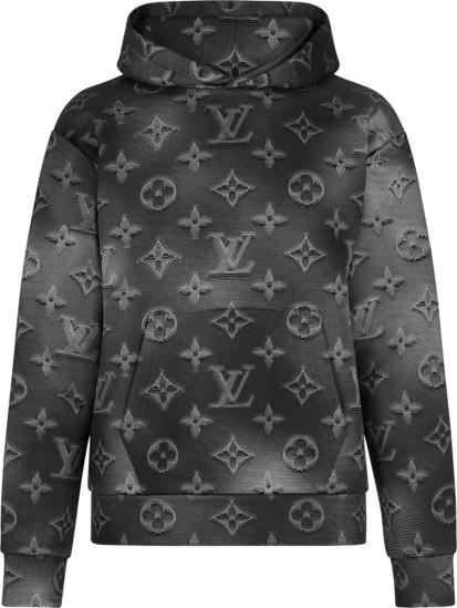 Louis Vuitton Black Monogram 2054 Hoodie