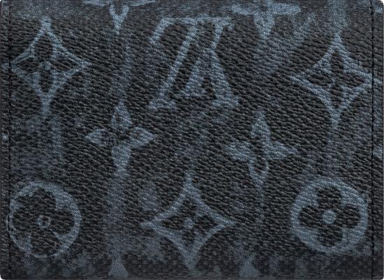 Louis Vuitton Black Monogram Card Holder With Strap
