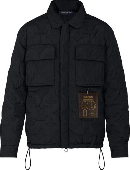Louis Vuitton Black Monogram Embossed Padded Jacket