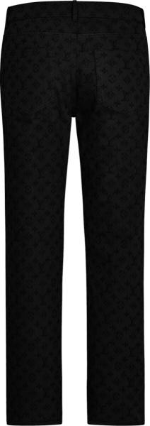 Louis Vuitton Black Monogram Jeans