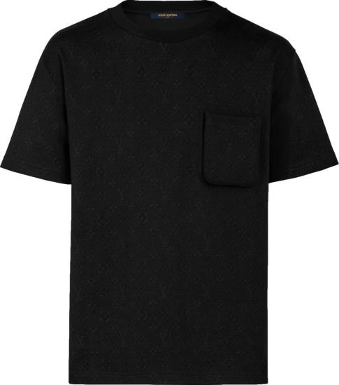Louis Vuitton Black Monogram Pocket T Shirt 1a5via