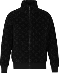 Louis Vuitton Black Monogram Shearling Jacket