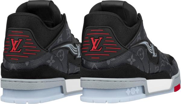 Louis Vuitton Black Monogram Trainer Sneakers