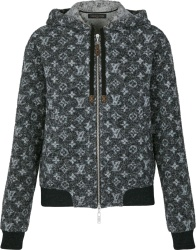 Louis Vuitton Black Monogram Wool Zip Hoodie