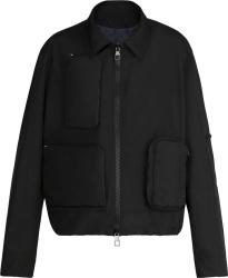Black Nylon Utility Jacket
