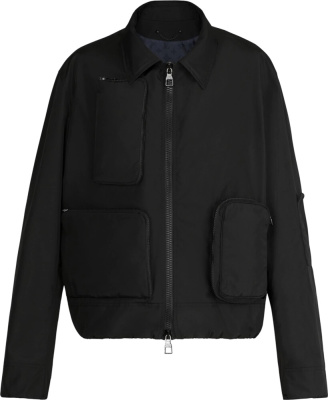 Louis Vuitton Black Nylon Utility Jacket