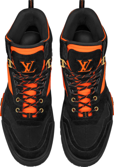 Louis Vuitton Black Orange Lv Hiking Boots