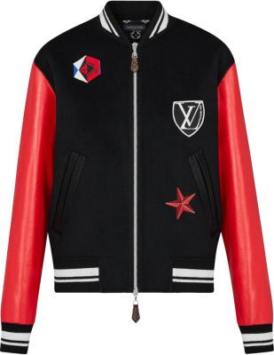 Louis Vuitton Black Red Varsity Jacket