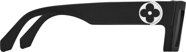 Louis Vuitton Black Silver Tone Flower Monogram Sunglasses