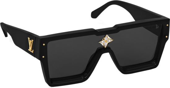 Louis Vuitton Black Square Jewel Embellished Sunglasses